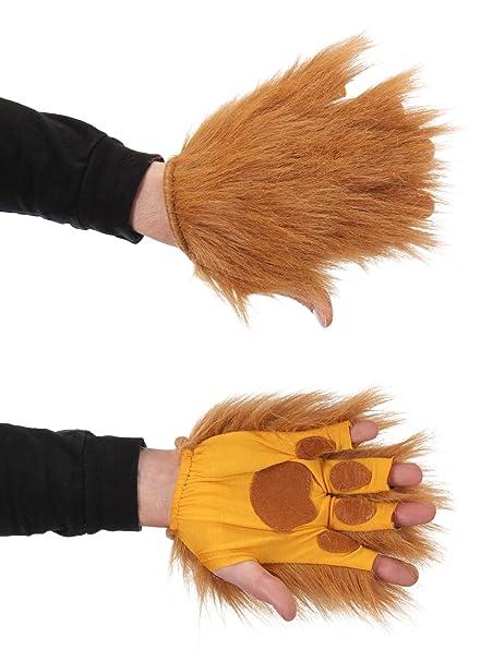 Amazon.com  elope Lion Brown Fingerless Costume Paws  Clothing 440189d092e6