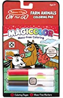 Melissa & Doug On the Go Magicolor Coloring Pad: Farm Animals - 18 Pages, 4 Markers