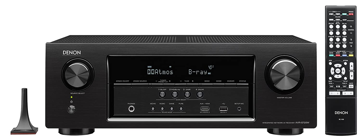 Amazon.com: Denon AVR-S720W 7.2 Channel Full 4K Ultra HD AV Receiver with  Built-In Wi-Fi and Bluetooth: Home Audio & Theater