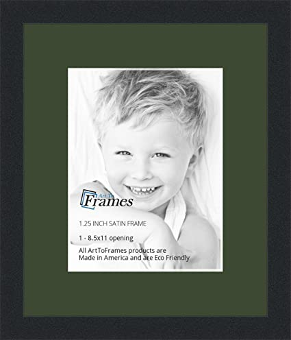 Amazon.com - ArtToFrames 8.5 x 11 Inch Opening Single Mat with a ...