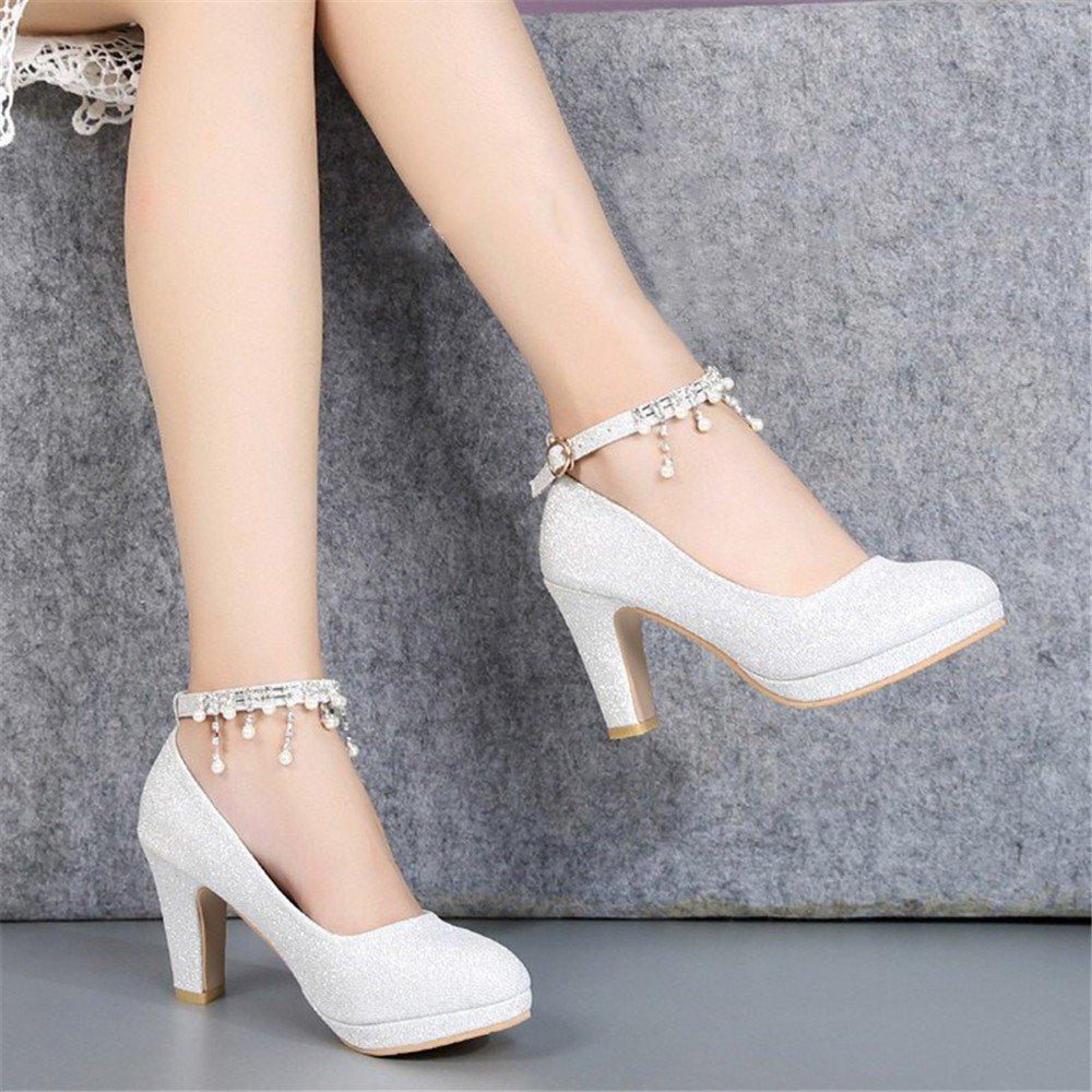 HXVU56546 Frühling Und Herbst Neue Neue Neue Lady Crystal Schuhe Mit Braut Schuhe High Heels B07BB78L1B Tanzschuhe Klassischer Stil 415c67