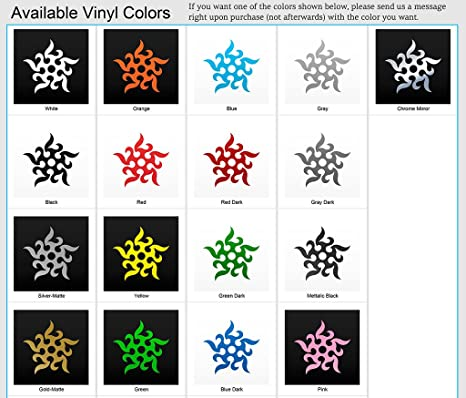 Amazon.com: Vinyl Sticker Decal Tribal Tattoo Ninja Stars ...