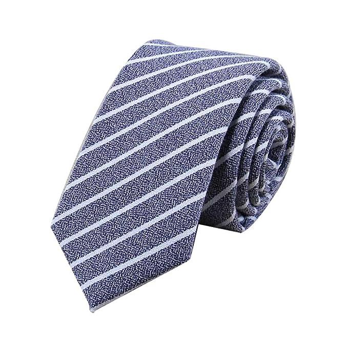 JUNGEN Corbata a Rayas para Hombres Corbata de Estrecha Corbata de ...
