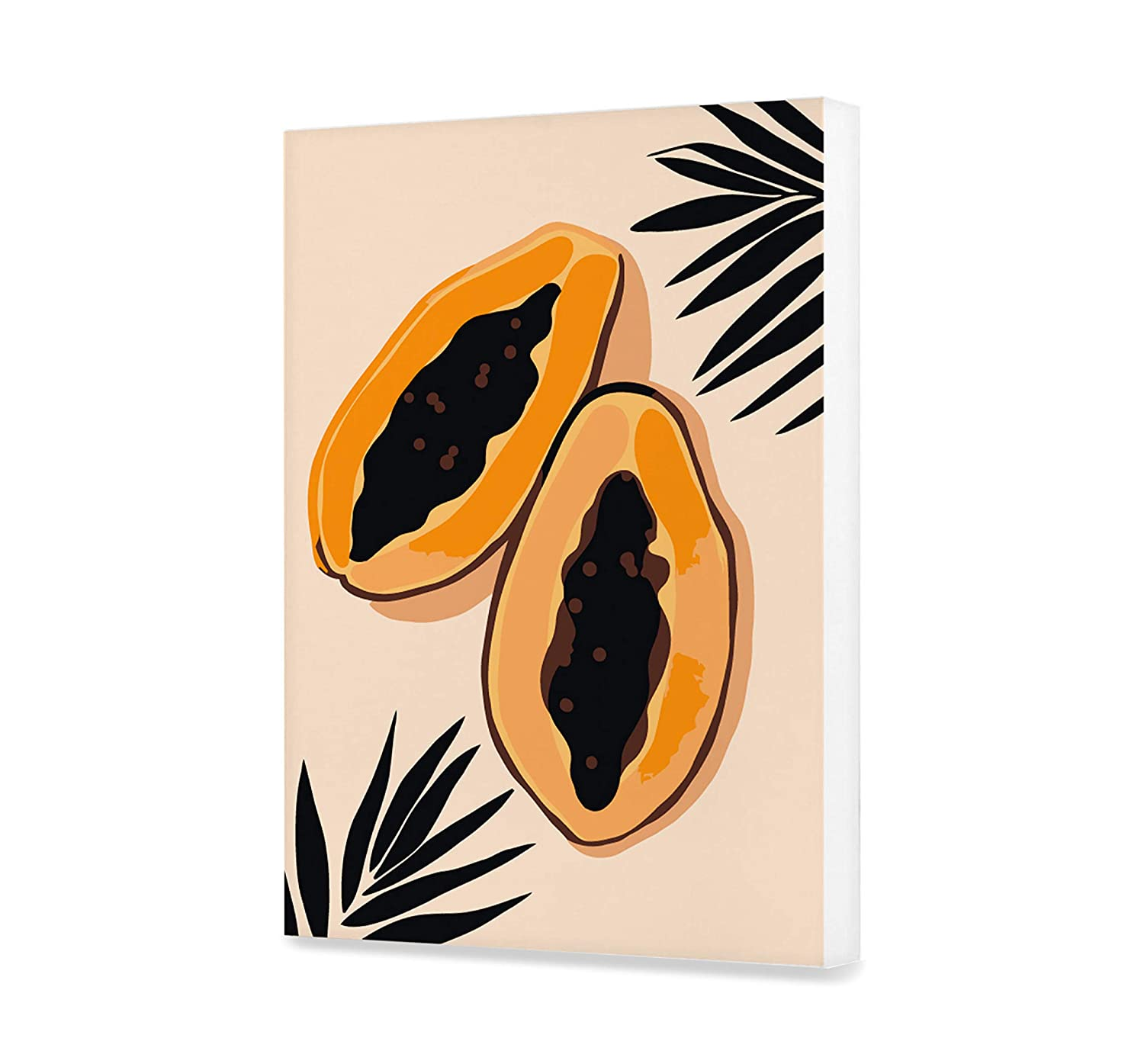 Papaya HandMade DIY Fruit Painting by Numbers Set for Simple Painting Canvas With Frame Unique Design Picture Gift for Adult