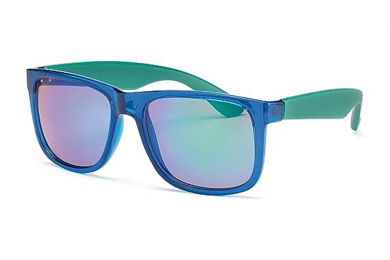 Sonnenbrillen Sonnenbrillen Transparente Rahmen Blaue Scheibe lljz8