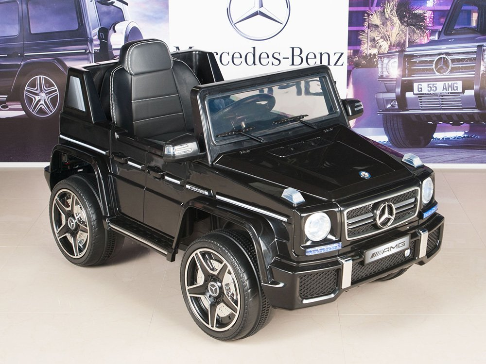 amazoncom mercedes benz g63 12v electric power ride on kids toy car truck w parent remote toys games
