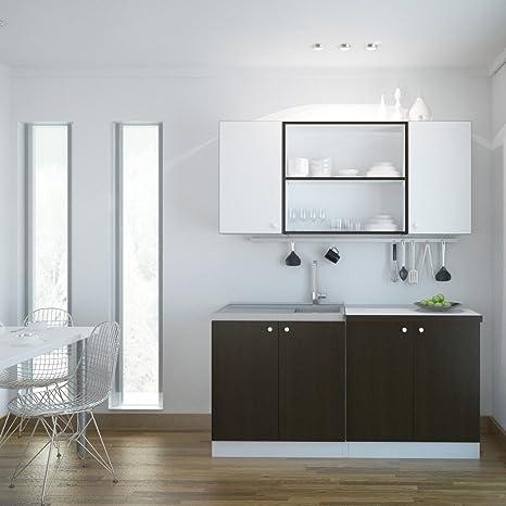Elysee cucina bianca + 3C 160 centimetri wengé Confezione da 1PZ ...