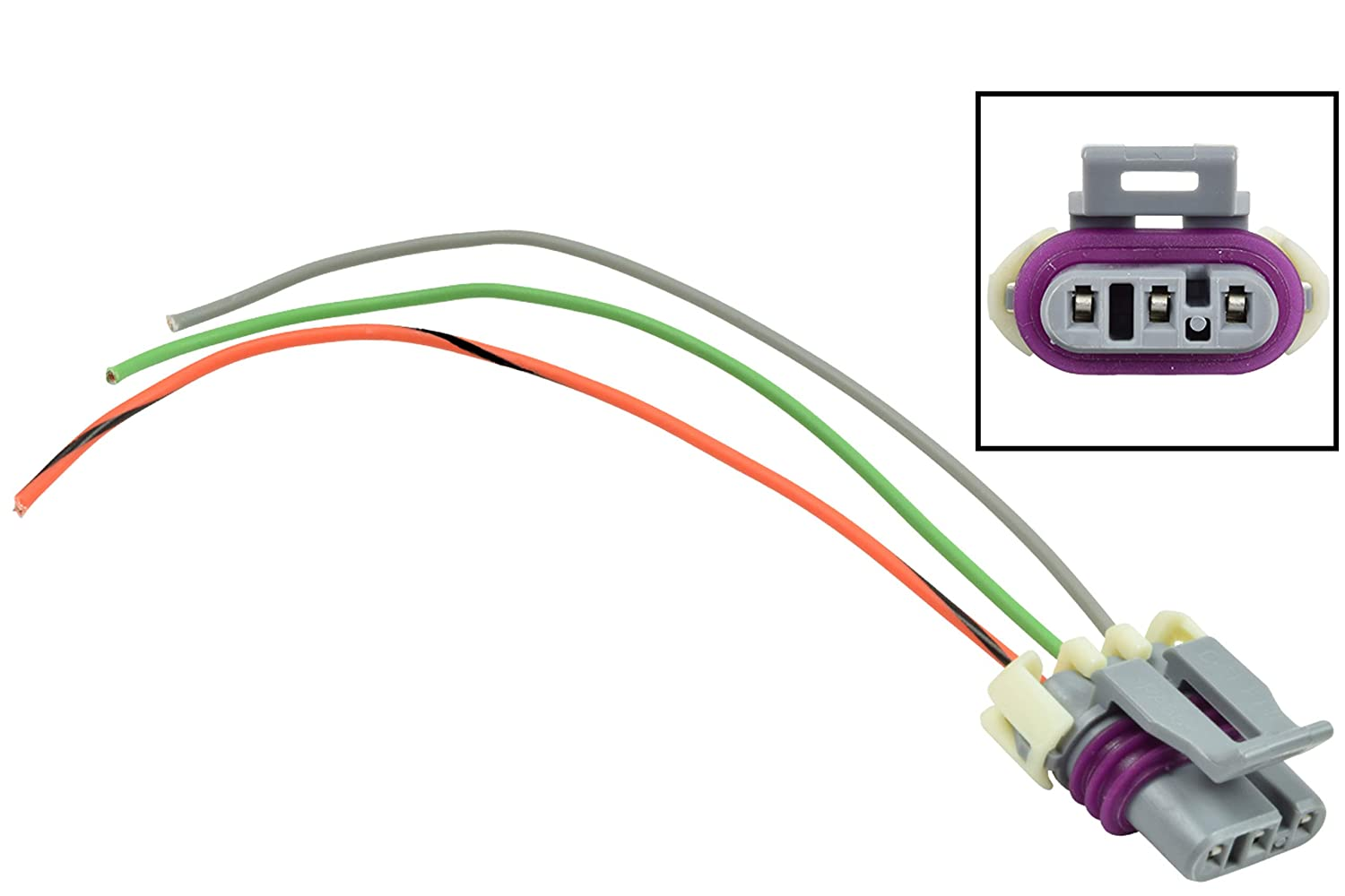 GM MAP Wire Pigtail Connector for Manifold Absolute Pressure ... Why Pigtail Wiring on pigtail socket, pigtail harness, pigtail fuses,