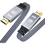 HDMI Cable 6.6ft (4K 60HZ, HDMI 2.0, 18Gbps), Snowkids 4K Flat High Speed HDMI 2.0 Cable Braided HDMI Cord, Support 3D 4K HDR 2160P 1080P HDCP 2.2 ARC Ethernet, 4K UHD TV/HD TV Blu-ray Monitor-Gray