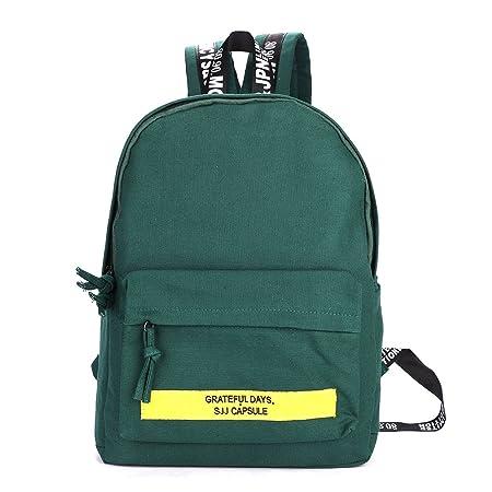 3c24b2e445817 Backpack School Uni für Frauen Student Damen Mädchen Schultasche Frisch aus Leinwand  Rucksack für Bücher Laptop
