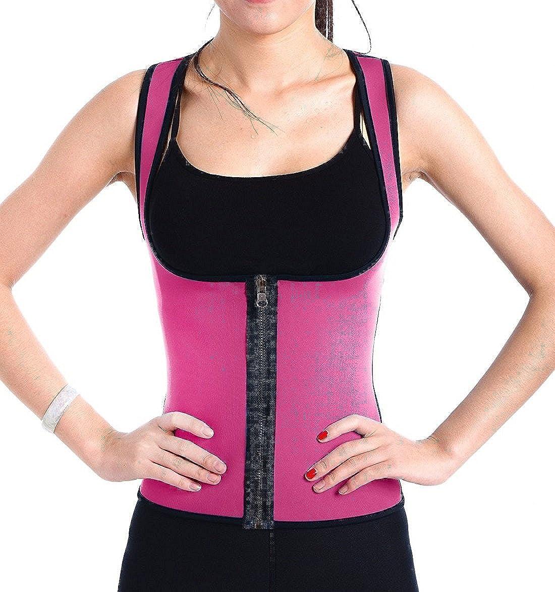 DODOING Slimming Neoprene Sweat Sauna Suit Sauna Tank Top Waist Cincher Vest for Women
