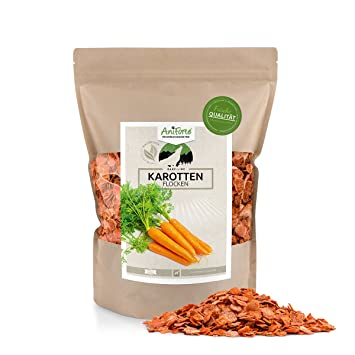 AniForte b.a.r.f. Line Copos de Zanahoria 1 kg - Varios. tamaños - Producto Natural para Perros: Amazon.es: Productos para mascotas