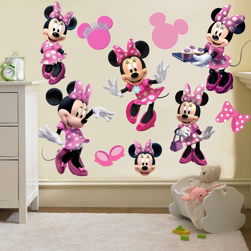 RaeSponsive Minnie Mouse Clubhouse Wall Room Decor Decal - Removable