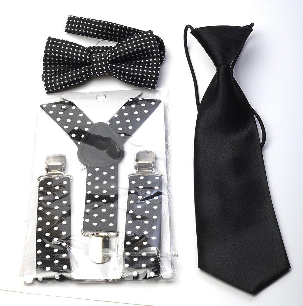Générique Set Garçon Bretelles + Cravate + Noeud papillon