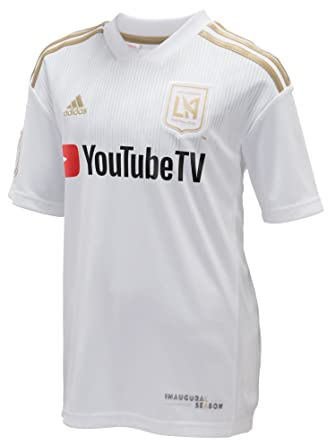 Amazon.com  adidas LAFC 2018 Away Youth Jersey- White Gold YS  Clothing 18dd9f92e