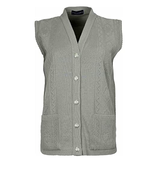 Loire Couture New Ladies Womens Ribbed Knitted Pocket Waistcoat Sleeveless  Cardigan Beige  Amazon.co.uk  Clothing 729891a78