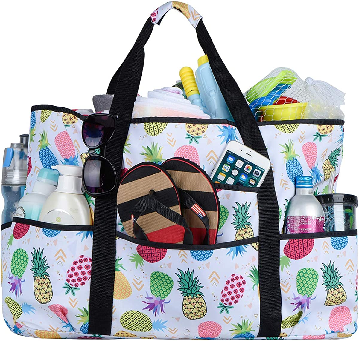 Flamingo Beach Theme In Aqua And Pink Travel Duffel Bag Casual Large Capacity Portable Luggage Bag Suitcase Storage Bag Luggage Packing Tote Bag Weekend Trip