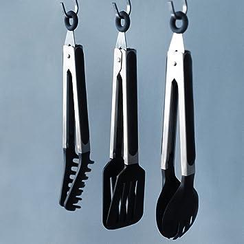 Juego de utensilios de cocina de silicona – 3 utensilios de cocina antiadherentes de nailon y