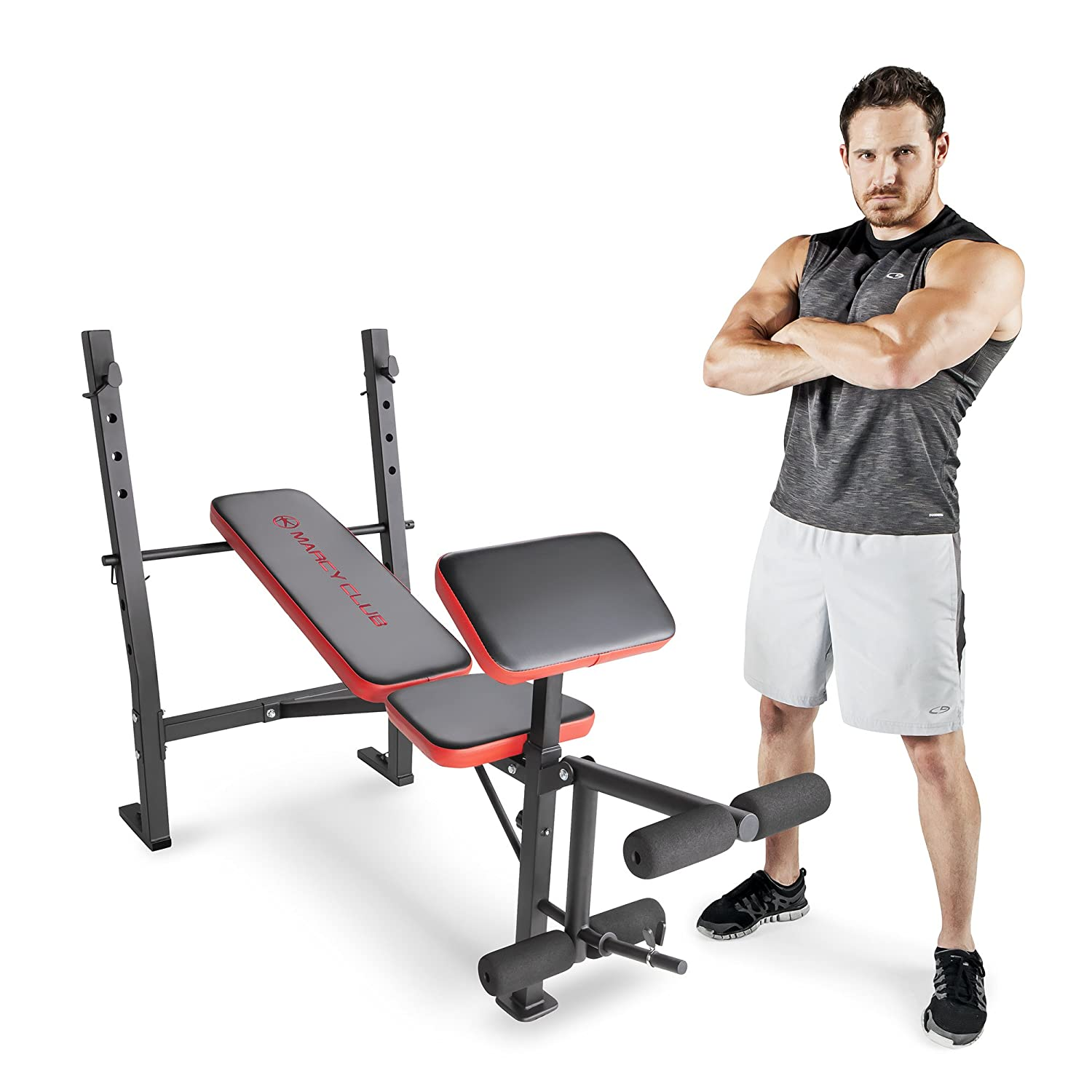 Marcy MKB-4873 Adjustable Standard Weight Bench with Leg Developer for Weight Lifting & Strength Training Impex Inc. - DROPSHIP