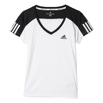 adidas Club Tee T-Shirt pour Femme Medium Blanc Noir  Amazon.fr ... af8eb7782911
