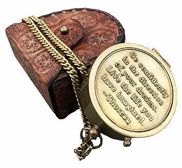 Amazon Com A S Handicrafts Thoreau S Go Confidently Quote Engraved