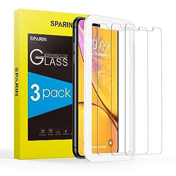 [3-Pack] Cristal Templado iPhone XR, Protector Pantalla iPhone XR Vidrio Templado
