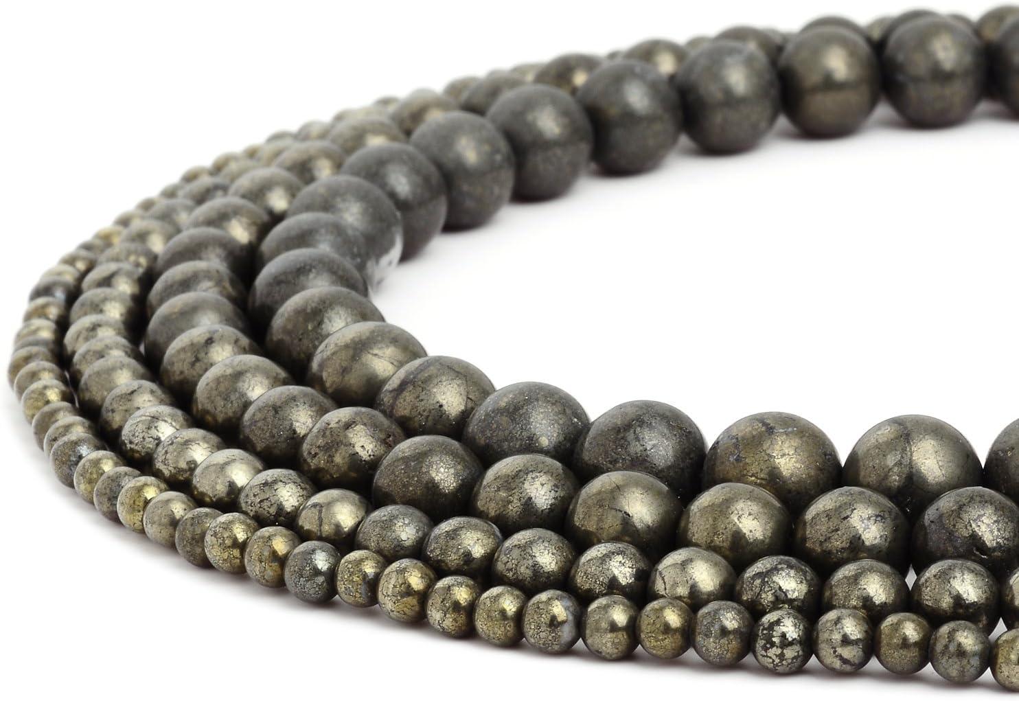 Rubyca - Cuentas redondas sueltas de piedras preciosas naturales para hacer joyas artesanales, 1 hebra