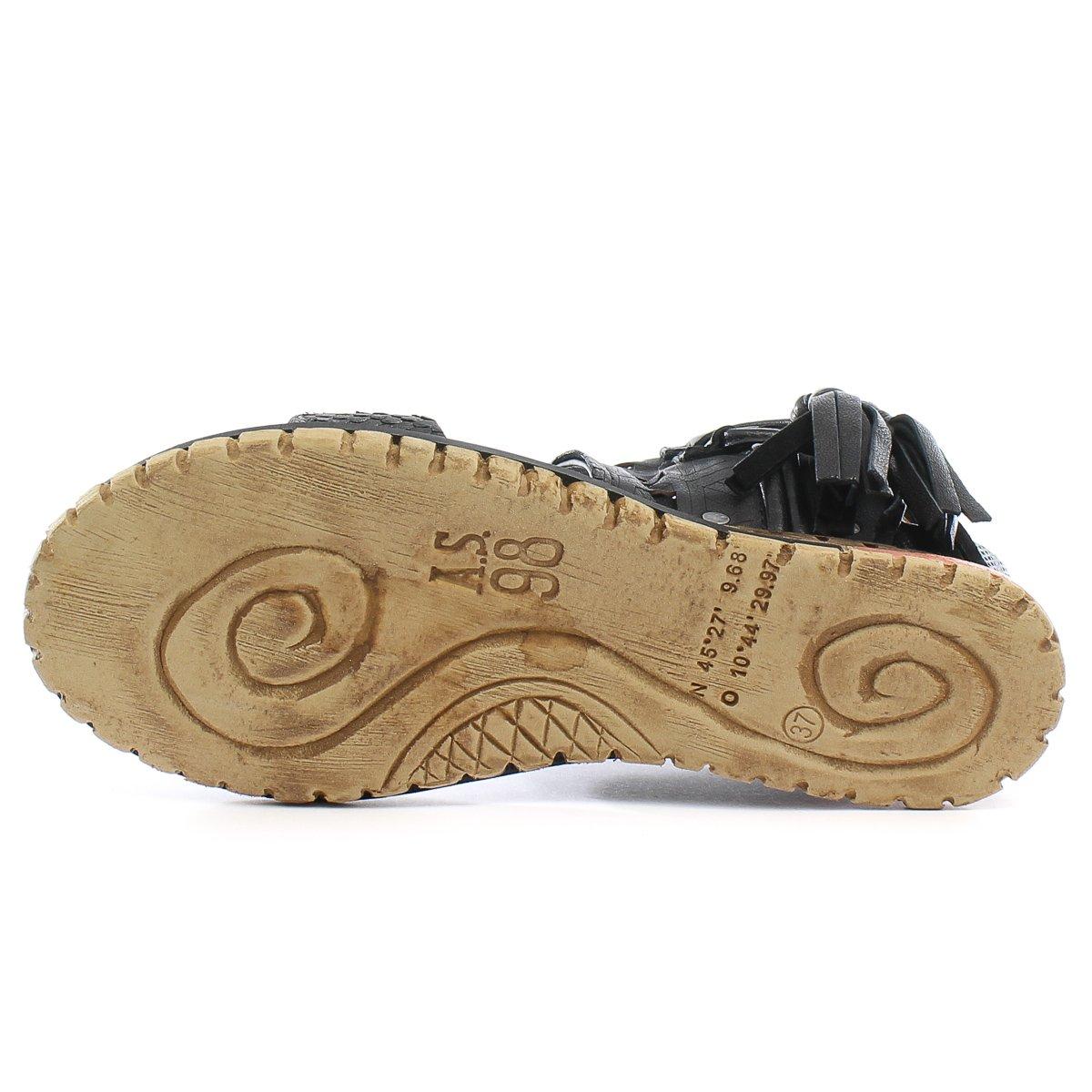A.S.98 Petrona Women's Wedge Sandal B01N7T450I 40 M EU|Nero