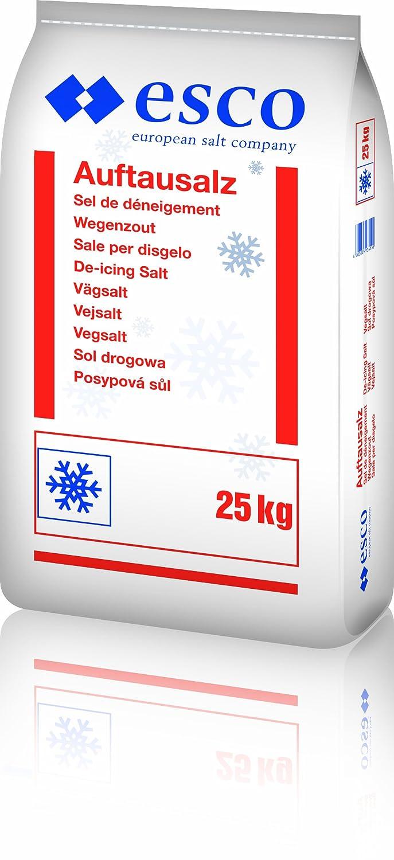 Esco - Sal de deshielo, 25,0 kg