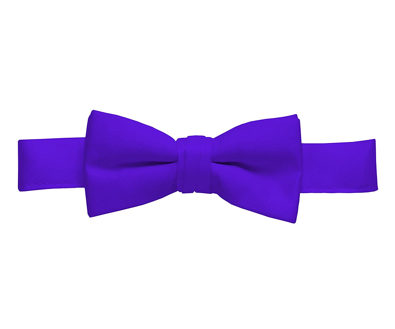 Solid Purple Kids Pre-Tied Bow Tie