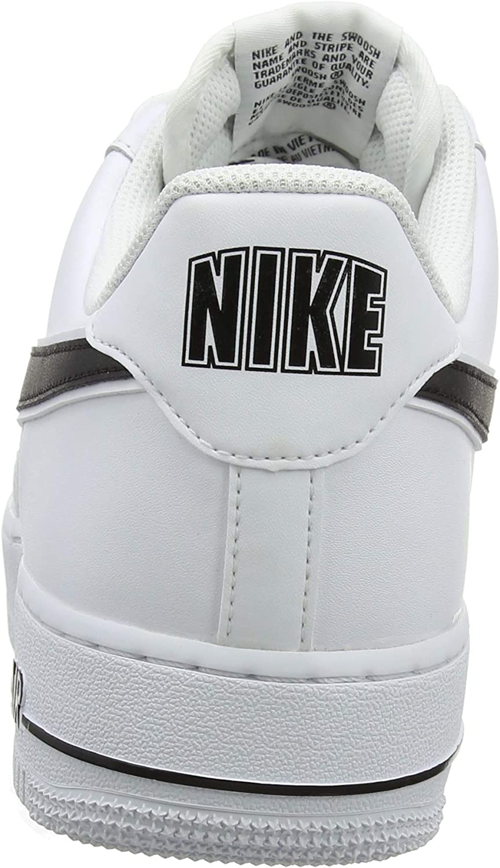 Nike Air Force 1 '07 3, Baskets Homme Blanc White Black 101