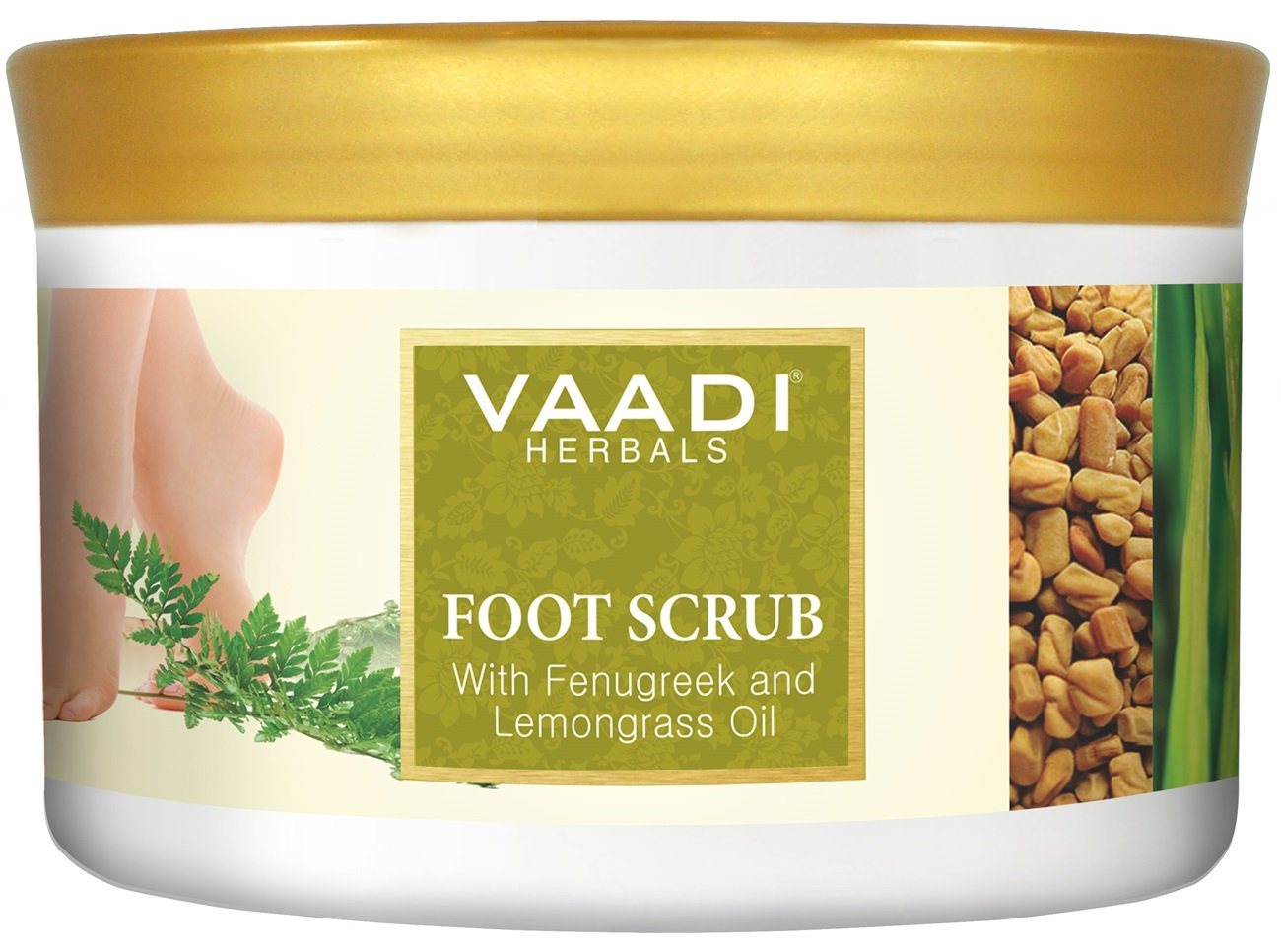 Foot Scrub - Foot Scrub Exfoliator - Foot Scrub Cream - Natural, Anti-fungal Callus Remover - Fast Absorbing - Makes Your Feet Super Soft - Vaadi Herbals (Pack of 1 X 500Gm) (17.64 Oz) by Vaadi Herbals