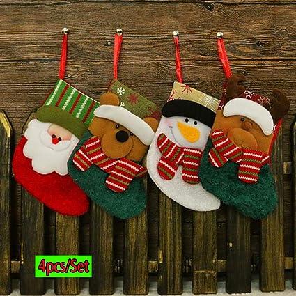 TAOtTAO - Calcetines de Navidad (4 Unidades), diseño de Calcetines
