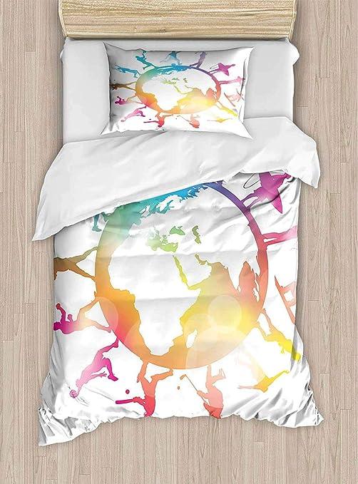 Xmas SNOWGLOBE skie snowman cactus Duvet Quilt Cover with Pillow Case Bedding...