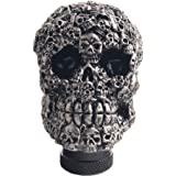 Dewhel Skull Head Custom Shift Knob Universal Car Truck Manual Stick Gear Shift Knob Lever Shifter