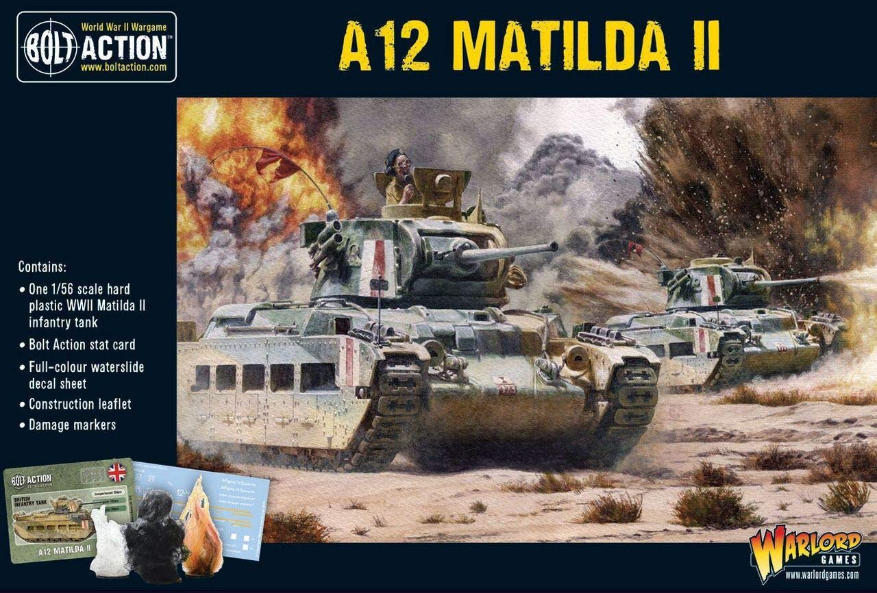 Bolt Action A12 Matilda II Infantry Tank 1:56 WWII Military Wargaming Plastic Model Kit
