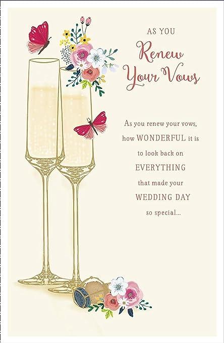 Impresionante tarjeta de felicitación de boda para renovar ...