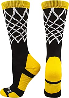 product image for MadSportsStuff Elite Basketball Socks with Net Crew Length - Made in The USA