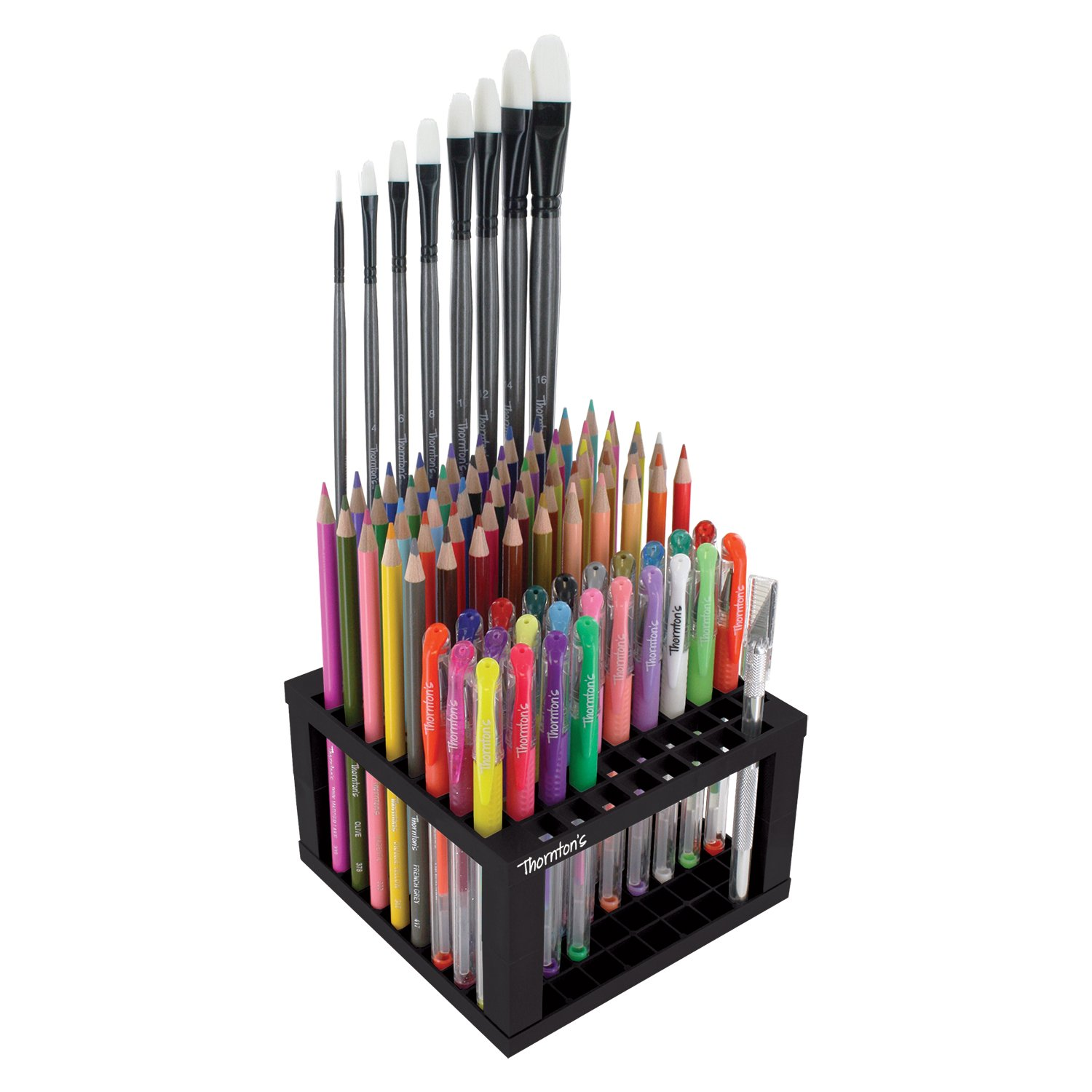 Thornton's Art Supply Plastic 96 Capacity Marker Art Brush Storage Stand Holder Thornton' s Art Supply TAS-84165