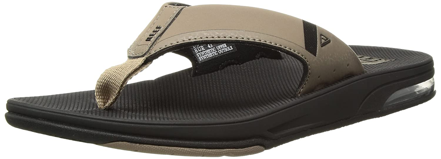 TALLA 43 EU. Reef Fanning Low Black/Tan, Chanclas para Hombre