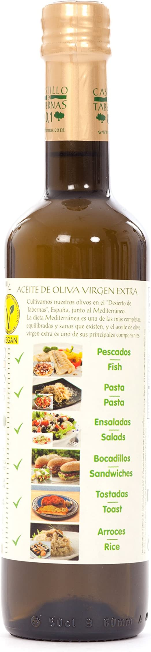 Aceite De Oliva Virgen Extra Bordelesa Picual Castillo De Tabernas 500 Ml: Amazon.es: Alimentación y bebidas