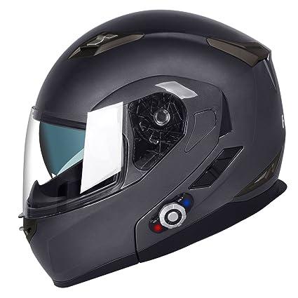 e458c4c8d2 FreedConn Bluetooth Motorcycle Helmets Speakers Integrated Modular Flip up  Dual Visors Full Face Built-in