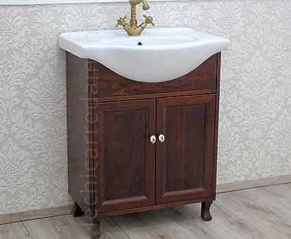 Le chic mobile bagno cm base lavabo noce arredo bagno country