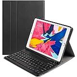 ODLICNO Funda con Teclado Bluetooth iPad, Nuevo Funda de Cuero Teclado para iPad 2017, 2018 Nuevo 9.7 Pulgadas, Funda de Teclado de Cuero Diseñada para iPad Air/iPad Air 2/ iPad Pro(Negro)