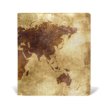 vintage old world map book covers fits most hardcover textbooks up to 9 x 11