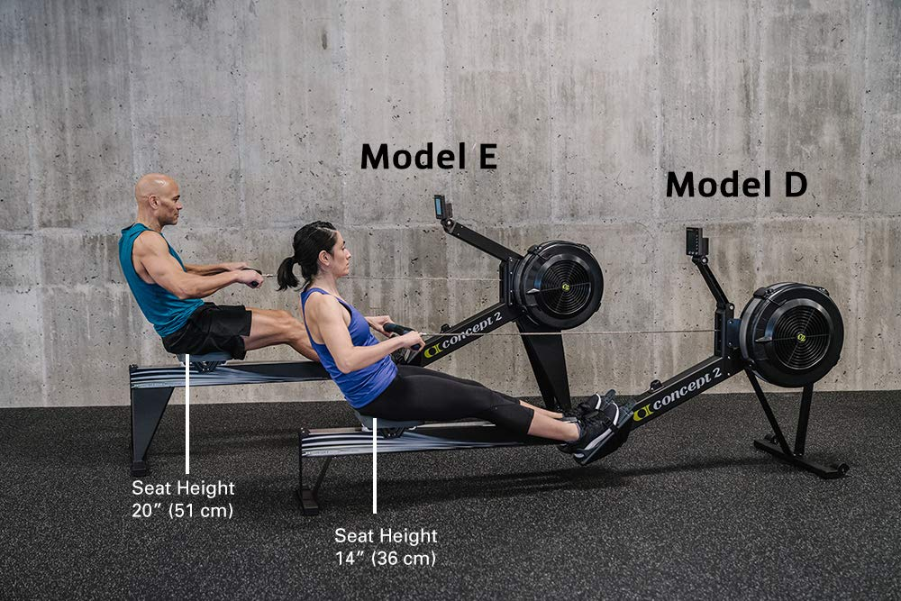 Concept2 Model E with PM5 Performance Monitor Indoor Rower Rowing Machine Black by Concept2 (Image #8)