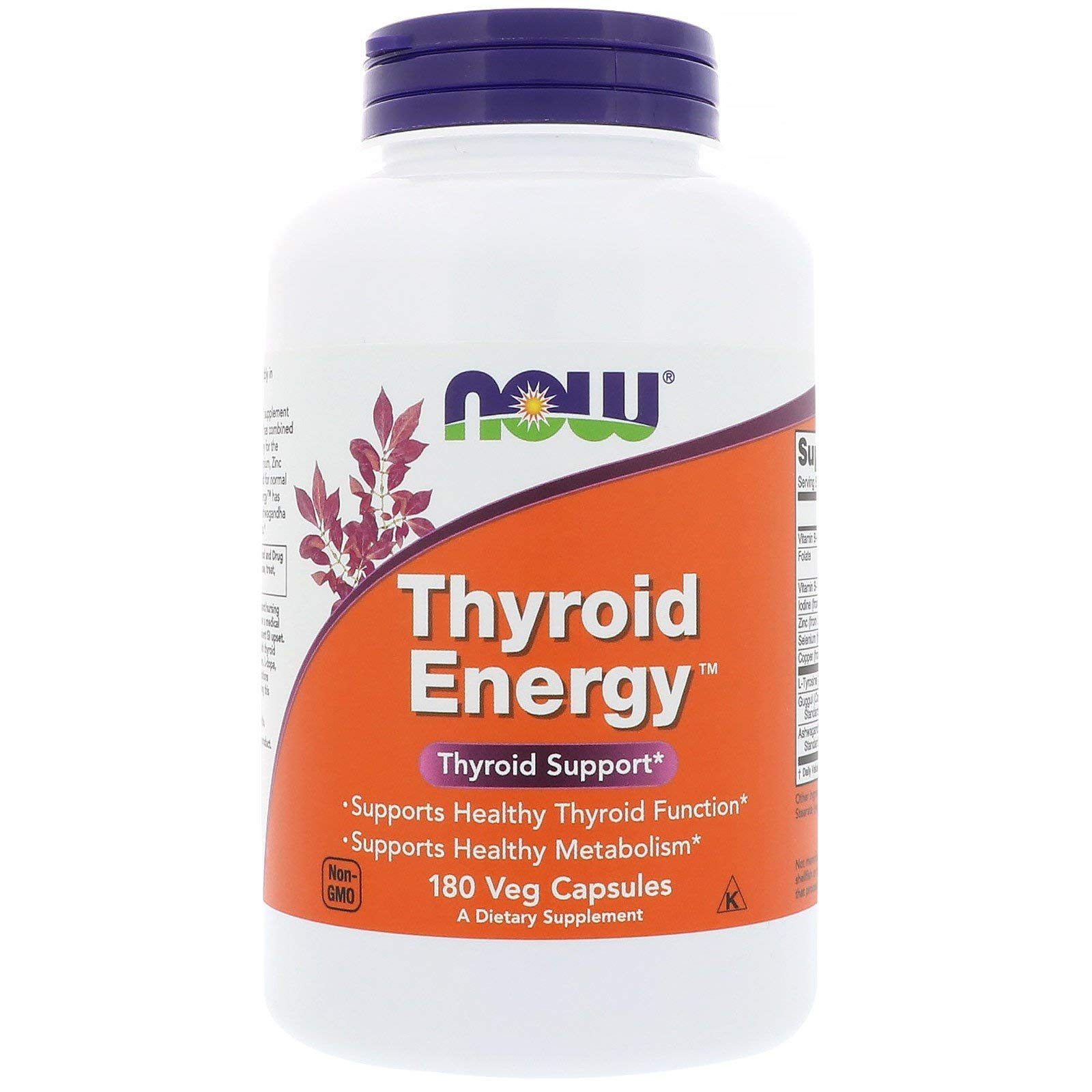 NOW Foods Thyroid Energy Veg Capsules (180 Capsules, Pack of 2)