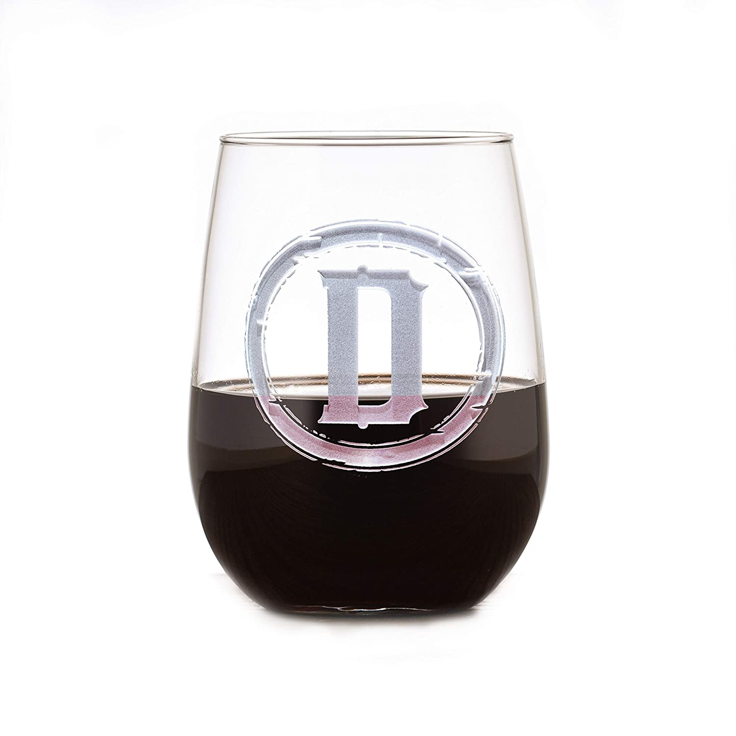 glassware custom personalized gifts, wine gifts custom monogram Monogram stemless wine glass personalized stemless wine glasses