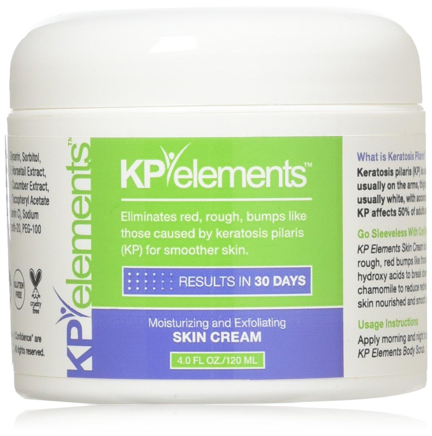 KP Elements Keratosis Pilaris Exfoliating Skin Cream Treatment, 4 fl oz. - All-Natural, Soothing, Healing Ingredients