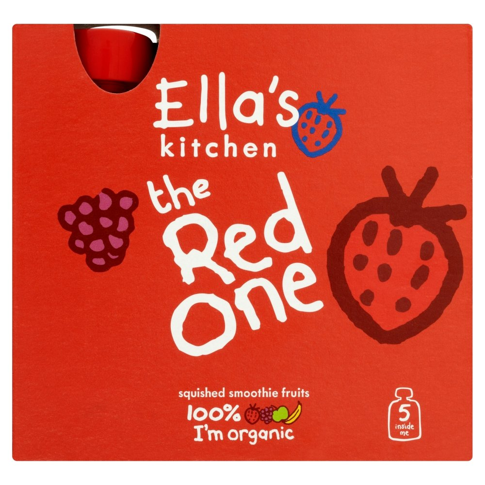 Ella's Kitchen The Red One Organic Smoothie Fruits Multipack 5 x 90 g (Pack of 6, Total 30 Packets) Healthcenter 41751